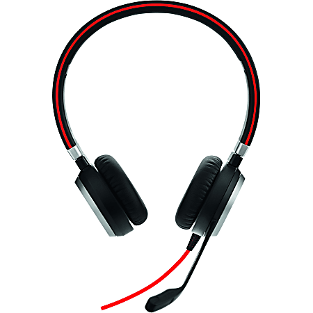 Jabra Evolve 40 UC Stereo - Stereo - USB, Mini-phone - Wired - Over-the-head - Binaural - Supra-aural - Noise Cancelling Microphone - Noise Canceling