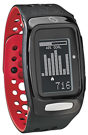 SYNC BURN Smart Band - Wrist - Pedometer - Stopwatch - Heart Rate - Bluetooth - 8765.81 Hour - Black, Red - Tracking, Health & Fitness - Water Resistant