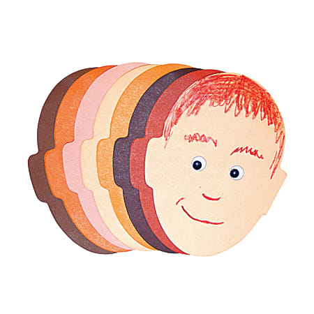 """Roylco® Face Pads, 5"""" x 8"""", Multicolor, 50 Sheets Per Pad, Pack Of 4"""