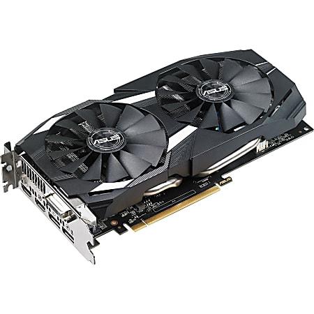 Asus DUAL-RX580-O8G Radeon RX 580 Graphic Card - 8 GB GDDR5 - 1.36 GHz Core - 256 bit Bus Width - DisplayPort - HDMI - DVI
