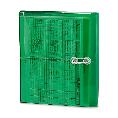 Smead® Heavy-Duty Polypropylene Envelopes, Letter Size, Green, Pack Of 5