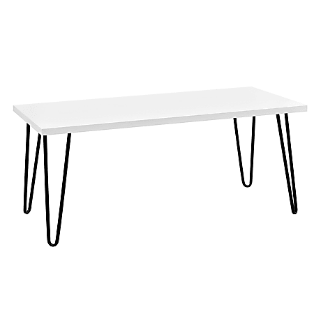 Ameriwood™ Home Owen Retro Coffee Table, Rectangular, White/Black