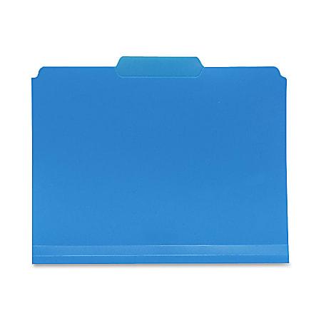 Smead® Inn Dura File Folders, Letter Size, 1/3 Cut, Blue, Box Of 24