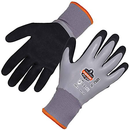 Ergodyne ProFlex 7501 Coated Waterproof Winter Work Gloves, Medium, Gray