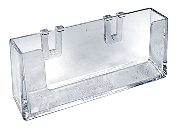 """Azar Displays Outdoor Business Card Holders, 2-3/4""""H x 4-1/4""""W x 1-1/2""""D, Clear, Pack Of 10 Holders"""