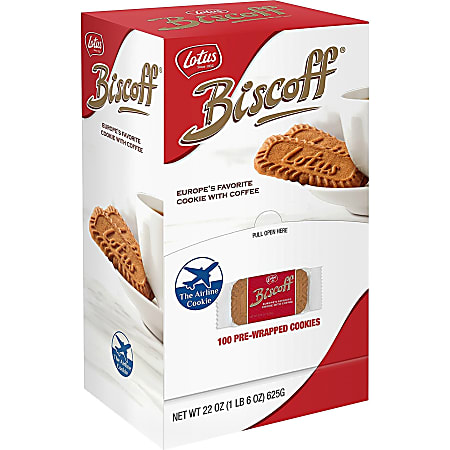 Biscoff Gourmet Cookies, 31.2 Oz, Case Of 100 Bags