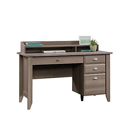 "Sauder® Shoal Creek 54""W Desk With Organizer Hutch, Diamond Ash"