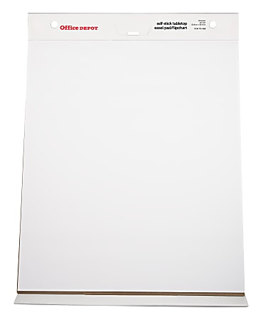 """Office Depot® Brand 30% Recycled Restickable Easel Pad With Liner, 20"""" x 23"""", White, 20 Sheets"""