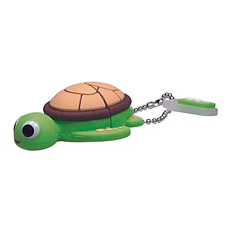 Emtec Animal Design USB 2.0 Flash Drive, 4GB, Turtle