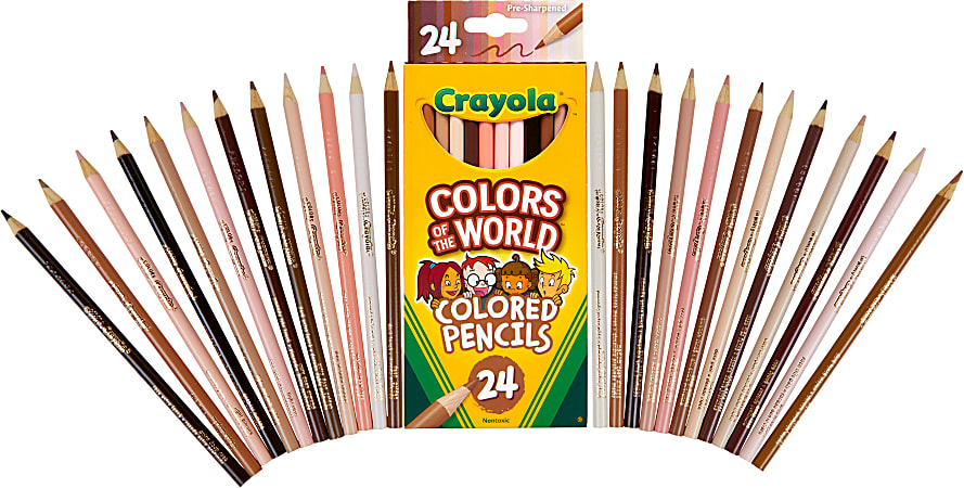 Crayola® Color Of The World Colored Pencils, 3 mm, Assorted Colors, Pack Of 24 Pencils