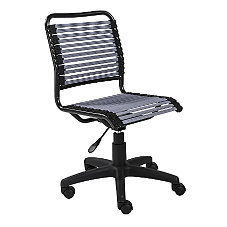 Eurostyle Allison Bungie Low-Back Commercial Office Chair, Black/Light Grey