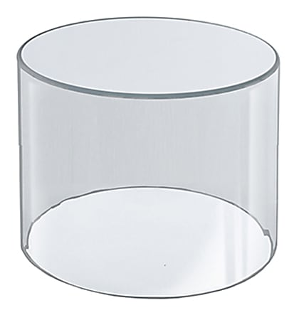"""Azar Displays 4"""" Deluxe Acrylic Display Cylinder, Small Size, Clear"""