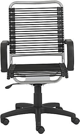 Eurostyle Bradley Bungie High-Back Commercial Office Chair, Black/Silver
