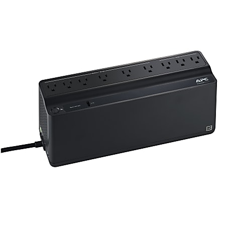 APC® Back-UPS 900 9-Outlet/1-USB Battery Backup And Surge Protector, BVN900M1, Black