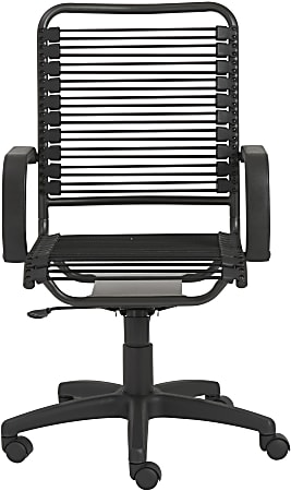 Eurostyle Bradley Bungie High-Back Commercial Office Chair, Black/Graphite