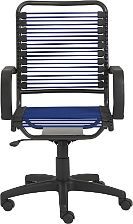 Eurostyle Bradley Bungie High-Back Commercial Office Chair, Graphite/Blue