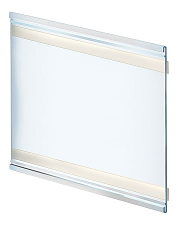 """Azar Displays Adhesive Back Acrylic Nameplate Holders, 8""""H x 11""""W x 1/4""""D, Clear, Pack Of 10 Holders"""