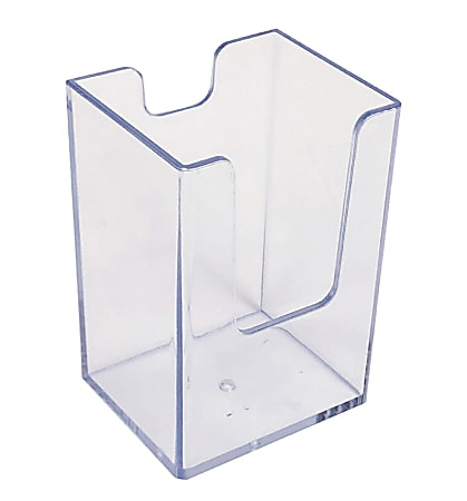 """Azar Displays Deep Vertical Business/Gift Card Holders, 3-1/2""""H x 2-15/16""""W x 1-15/16""""D, Clear, Pack Of 10 Holders"""