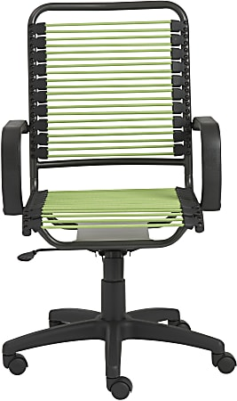 Eurostyle Bradley Bungie High-Back Commercial Office Chair, Green/Graphite