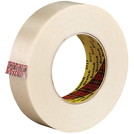 """Scotch® 8919 Strapping Tape, 3"""" Core, 1"""" x 60 Yd., Clear, Case Of 36"""