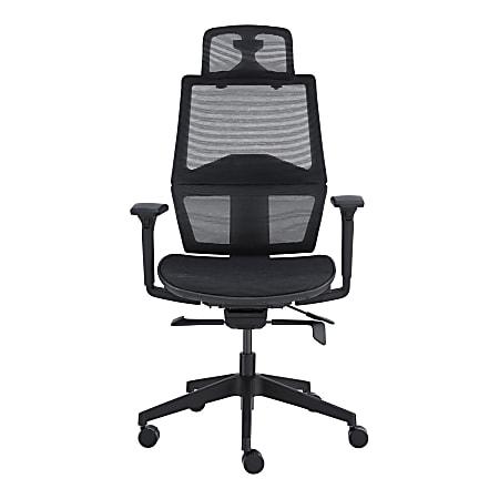 Eurostyle Bruno Ergonomic Mesh High-Back Commercial Office Chair, Black