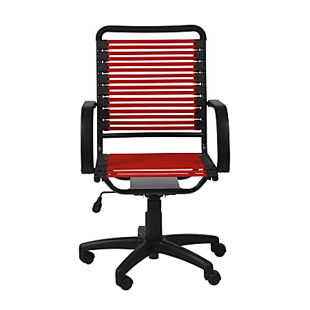 Eurostyle Flat Bungie High-Back Commercial Office Chair, Red/Black