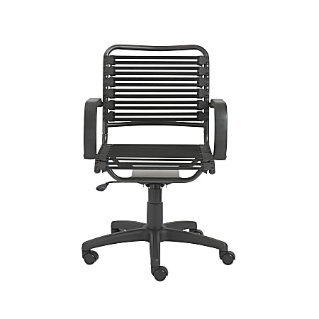 Eurostyle Flat Bungie Mid-Back Commercial Office Chair, Black