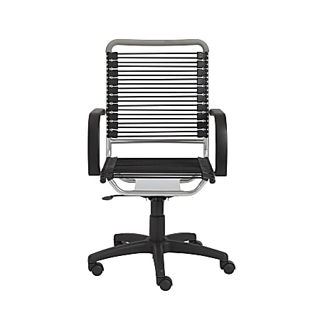 Eurostyle Round Bungie High-Back Commercial Office Chair, Black/Silver