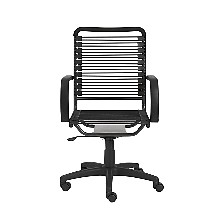 Eurostyle Round Bungie High-Back Commercial Office Chair, Black/Graphite