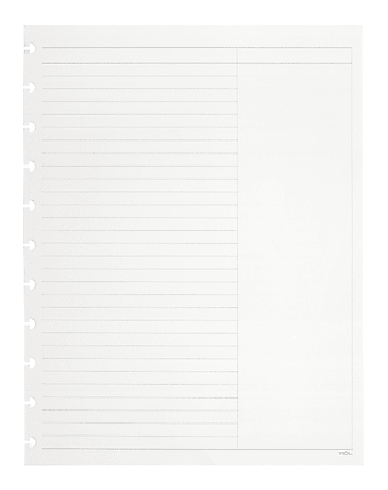 TUL® Discbound Notebook Refill Pages, Letter Size, Margin Ruled, 100 Pages (50 Sheets), White