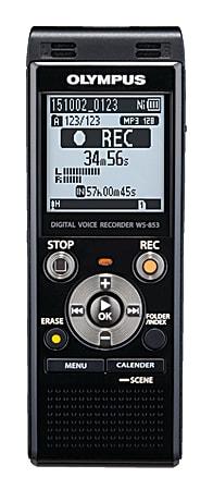 Olympus® WS-853 8GB Digital Voice Recorder, Black