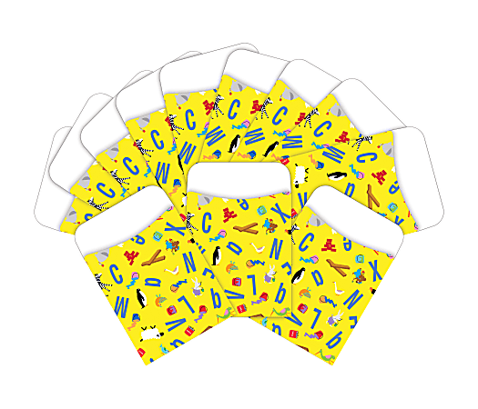 "Barker Creek Library Pockets, 3"" x 5 "", ABC Animal, Pack Of 60 Pockets"
