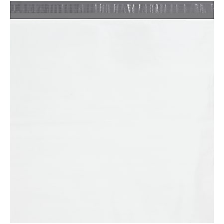 """Office Depot® Brand 24"""" x 24"""" Poly Mailers With Tear Strips, White, Case Of 200 Mailers"""