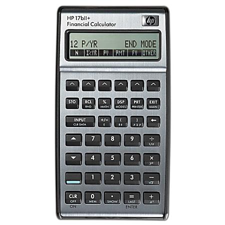 HP 17bII+ Financial Algebraic Calculator
