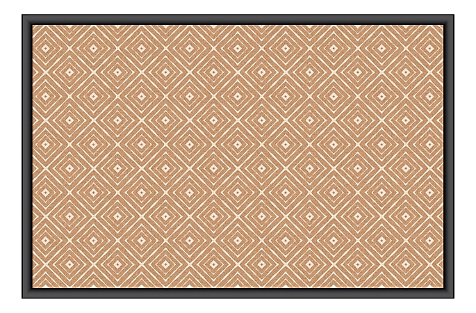 "U Brands Fashion Cork Bulletin Board, 36"" x 24"", Aluminum Frame With Black Finish"