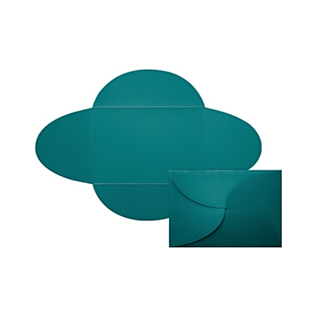 """LUX Petal Invitations, A7, 5"""" x 7"""", Teal, Pack Of 120"""
