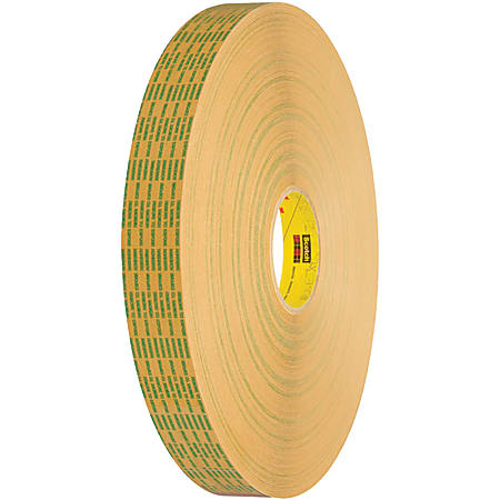 """Scotch® 465XL Adhesive Transfer Tape, 3"""" Core, 0.75"""" x 60 Yd., Clear, Case Of 6"""