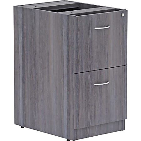 """Lorell® Essentials 22""""D Vertical 2-Drawer Pedestal File Cabinet, Weathered Charcoal"""