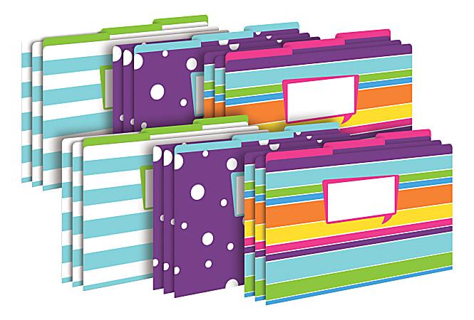 Barker Creek Tab File Folders, Legal Size, Happy, Pack Of 18 Folders