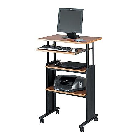 Safco Muv Stand-up Adjustable Height Desk, Medium Oak
