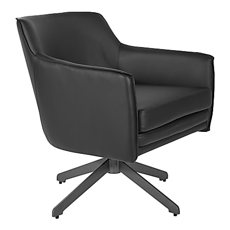 Office Star™ Faux Leather Guest Chair, Black