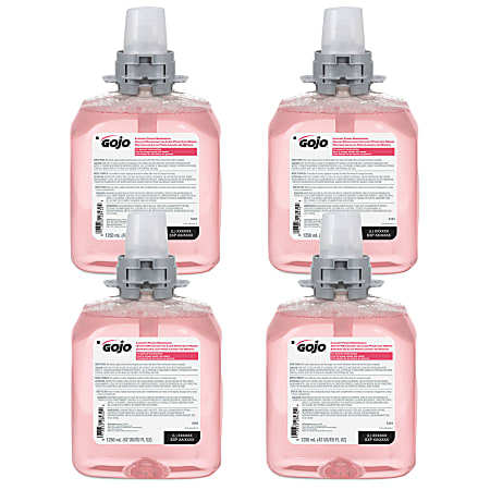 GOJO® FMX-12 Luxury Foam Hand Wash Soap, Cranberry Scent, 42.27 Oz, Carton Of 4 Bottles
