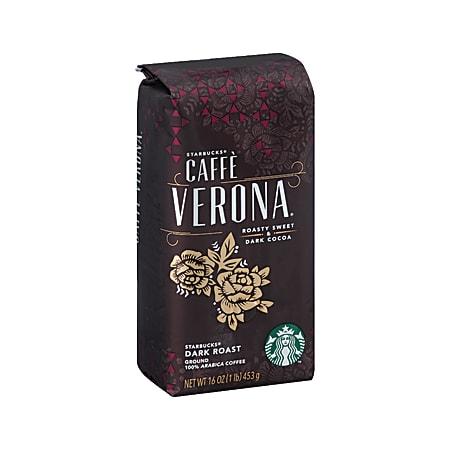 Starbucks® Caffè Verona Ground Coffee, Dark Roast, 1 Lb Per