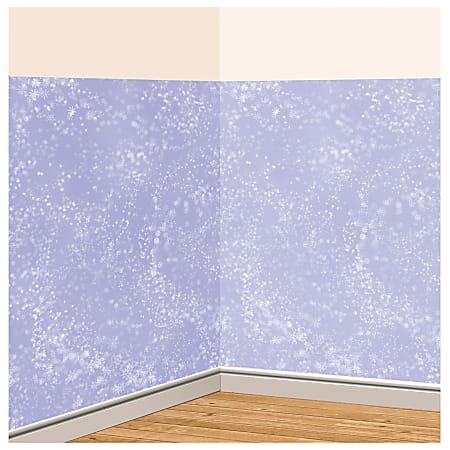Amscan Christmas Snow Flurries Room Roll, 40' x 4', White
