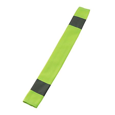 "Ergodyne GloWear 8004 High-Visibility Seat Belt Cover, 18"" x 3"", Lime"