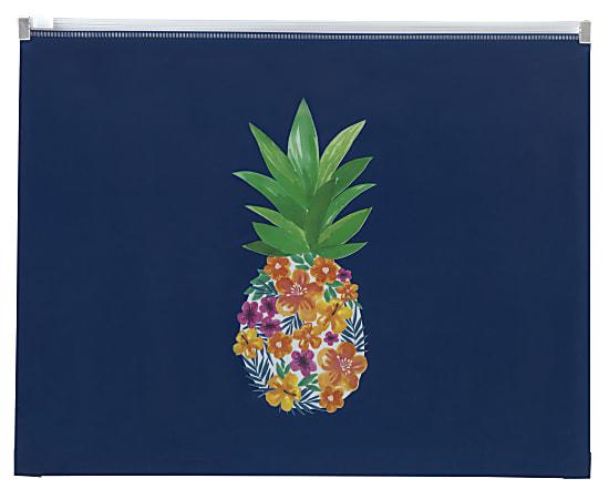 "Office Depot® Brand Zipper Envelope, 1-1/4"" Expansion, Letter Size, Pineapple"