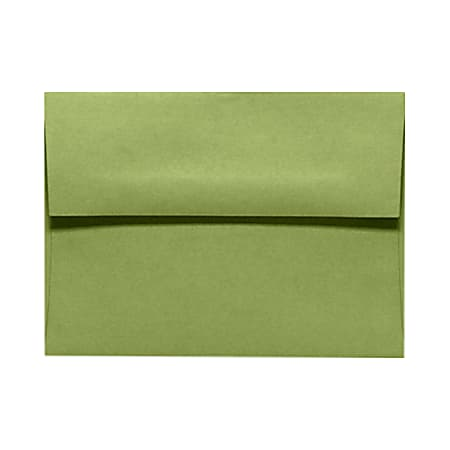 "LUX Invitation Envelopes With Moisture Closure, A9, 5 3/4"" x 8 3/4"", Avocado Green, Pack Of 50"