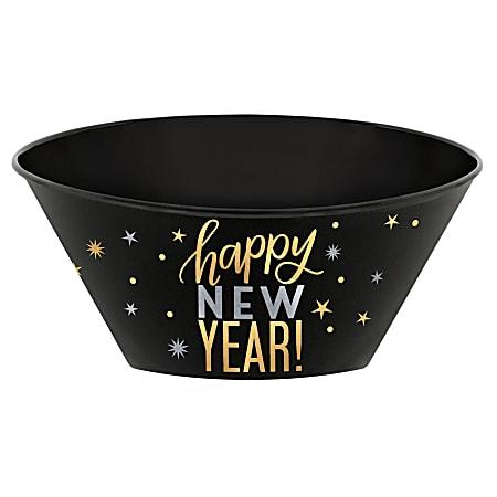 Amscan New Year's Plastic Serving Bowls, 120 Oz, Multicolor, Set Of 3 Bowls
