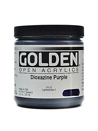 Golden OPEN Acrylic Paint, 8 Oz Jar, Dioxazine Purple