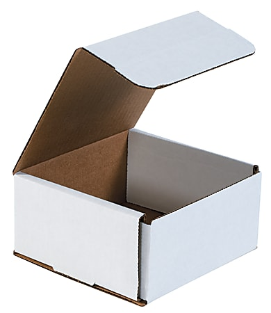 """Office Depot® Brand White Corrugated Mailers, 6"""" x 6"""" x 3"""", Pack Of 50"""